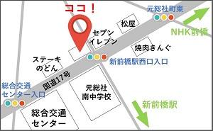 宮入個別指導塾前橋の地図