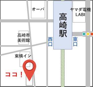宮入個別指導塾高崎の地図